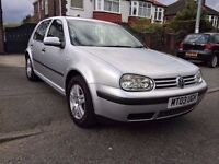 2003 VW GOLF 5DOORS-1.4,GENUINE 93000 LOW MILES/FULL SERVICE HISTORY,MOT APRIL 2018,ALLOYS,HPI CLEAR