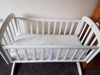 John lewis anna swinging crib with mattress and Argos walker