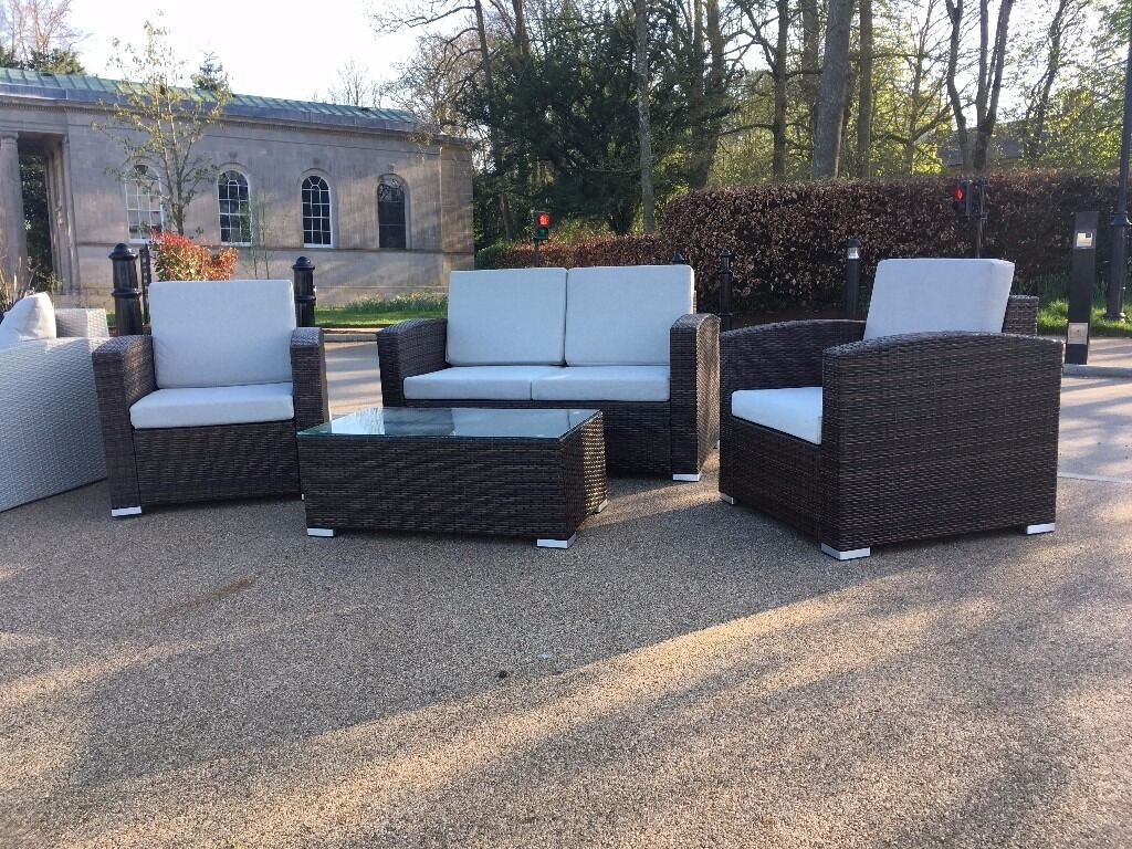rattan garden sofa chairs garden patio decking paving sun room conservatory shed house