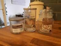 Empty Yankee candle jars