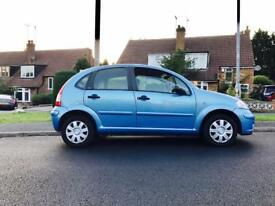 2007 Blue Citroen C3, 1.4 SX, 5 Door, Petrol, Manual, 1 year MOT, Service History, 90K Miles