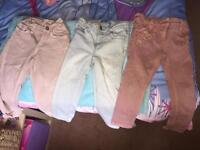 3x pairs of girls jeans
