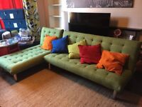 Modern corner sofa bed.
