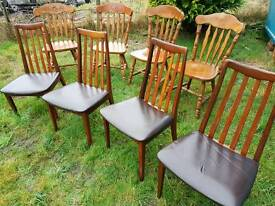 Vintage 1960's Dining Chairs x 4