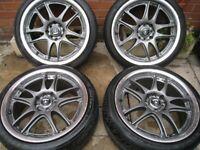 RENAULT ALLOY WHEELS 17 INCH multi - fitting , 4 STUD 4x100 + / yokohama nankang tyres