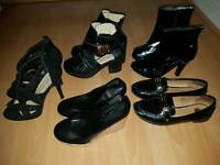 Various Ladies shoes and boots size 4