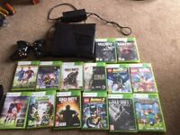 Xbox 360 s line, 250 GB, 14 games and 2 controllers