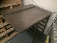 Dishwasher Pass Through Table, Stainless Steel 105 cm Long x 75 cm Deep x 87 cm High Buyer Collect