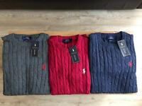 MENS RALHP LAUREN POLO SWEATERS FOR SALE !!! CLEARANCE STOCK!! WHOLESALE ONLY!! CHEAP
