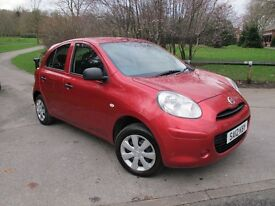 2012 (12), Nissan Micra 1.2 12v Visia 5dr Full S/History, Ideal 1st Car, Low Insurance Group