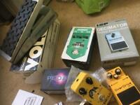 Guitar effects pedals (Dunlop, boss, joyo, visual sound, danelectro)
