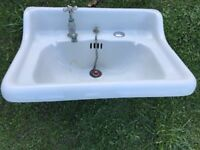 Antique Doulton & Co Bathroom Sink with stunning tap