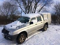 2004 l200 low miles for year 82k mot may