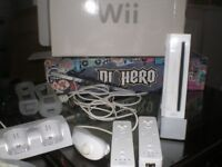 Wii console . Wii sport. Controllers. Games . leads etc