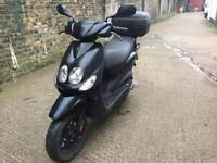 FULLY WORKING 2014 Yamaha Neos 2 Stroke 50cc Scooter 50 cc moped with MOT.