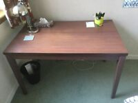 Brown student's desk very sturdy, 120cm x 75cm, like ikea