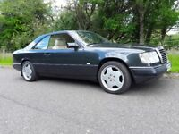 Mercedes 230 CE W124 pillarless coupe, K reg, Grey, AMG Alloys, Cream Leather, retro, classic,