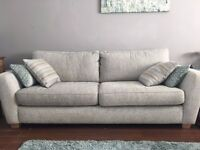 DFS (country living) sofa and love chair with cushions