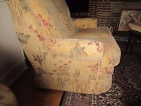 2 and 3 SEATER SETTEES WITH MATCHING POUFFE