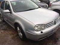 VW GOLF 1.9 TDi 2002 Silver 10 Months MOT Service History £750