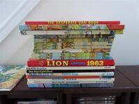 Vintage annuals - Rupert, Lion, Desperate Dan & Blue Peter