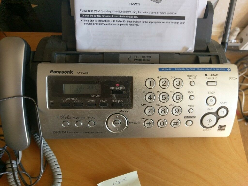Office Phone And Fax Panasonic Kx Fc275e In York North