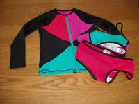 3 piece M&S bikini and matching jacket Age 5-6years
