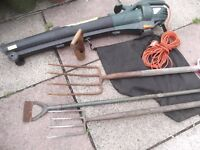 Garden Leaf Blower/Vacuum & Garden Tools - Job Lot.