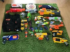 Nerf guns and vest