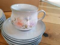 DENBY Sweet Pea Cups & Saucers