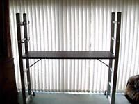 SOLID COMBI LADDER SCAFFOLD AND PLATFORM, USED ONCE.