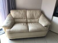 Cream leather sofas (2 & 3 seater)