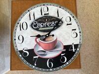 13 1/4 inch diameter kitchen wall clock