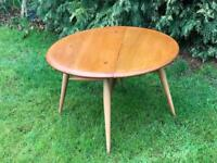 Ercol blonde drop leaf coffee table