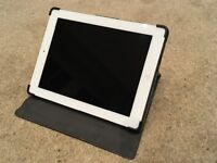 Apple iPad 64GB + Cellular. 4th Generation Model MD527B/A. Apple Smart Cover & Belkin leather case.