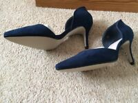 MISS KG Ladies navy blue suedette shoes size BNIB