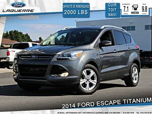 2014 Ford Escape TITANIUM**AWD*CUIR*TOIT*NAVI*CAMERA**