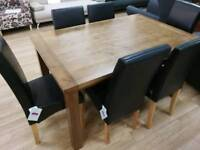 Walnut Dining Table Seats 6 Chairs Sold Separately