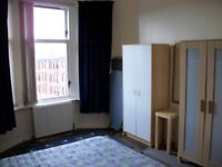 Spacious fully furnished one bedroom top floor flat. Available Now