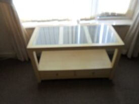 glass top t/v table