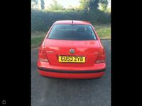 VW Bora 2003 1.6 16v low mileage and 12months MOT