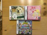 Nintendo DS games for DS and DSI. Nintendogs, I did it Mum and Moshe Monsters Moshlings Theme Park