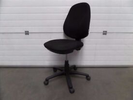 Black Fabric RS To Go Operators Chair - No Arms