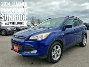2014 Ford Escape SE Leather Sunroof AWD  FREE Delivery