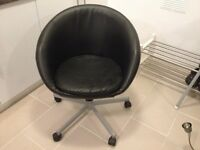 IKEA BLACK LEATHER COMPUTER CHAIR