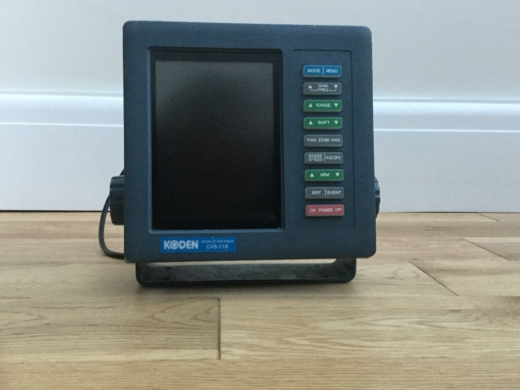 Koden Colour Lcd Fish Finder Cvs 118 Head Unit In