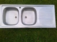 large double-bowl Franke kitchen sink in excellent condition