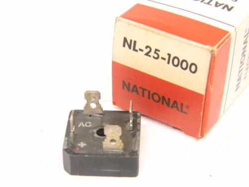 NEW SURPLUS NATIONAL BRIDGE RECTIFIER NL-25-1000
