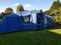 Vango Astoria 8 man tent w/ footprint, carpet & lots of spares