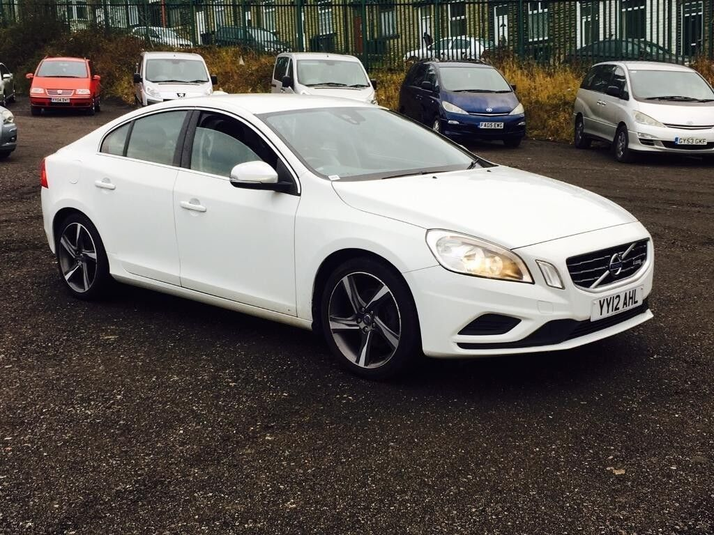 2012 volvo s60 1 6 d drive r design 4dr start stop white diesel satnav r design no. Black Bedroom Furniture Sets. Home Design Ideas